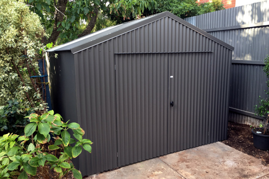 Horizontal Corrugated Metal Fence