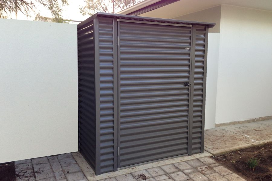 enmore garden shed horizontal corrugated skillion roof shed - Garden Sheds Vic